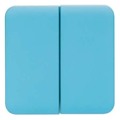 Накладка для выключателя/переключателя Lexman 2 клавиши цвет бирюзовый