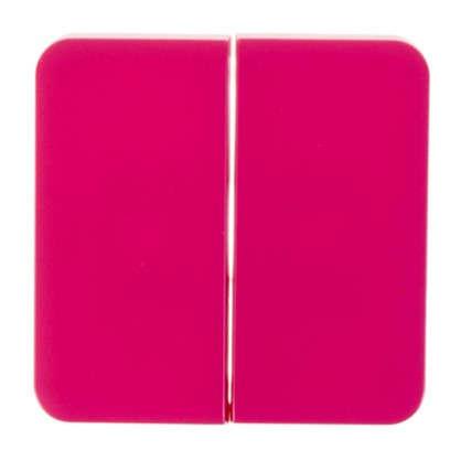 Накладка для выключателя/переключателя Lexman 2 клавиши цвет фуксия