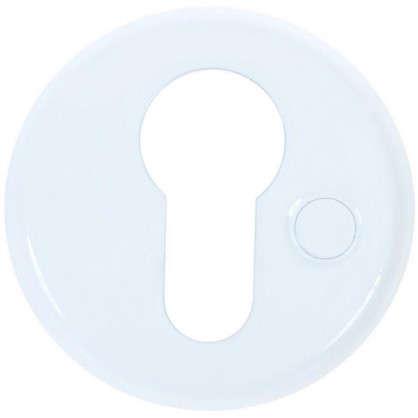 Купить Накладка дверная Фабрика замков Е 002 цвет белый дешевле