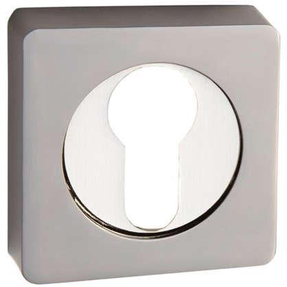 Накладка квадратная на цилиндр RENZ цвет матовый никель