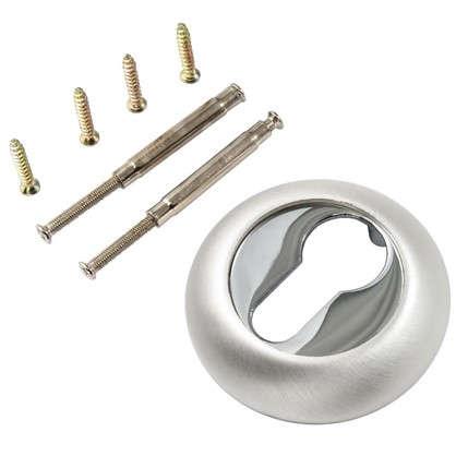 Купить Накладка на цилиндр к ручкам BK AL 02 цвет глянцевый/матовый никель дешевле