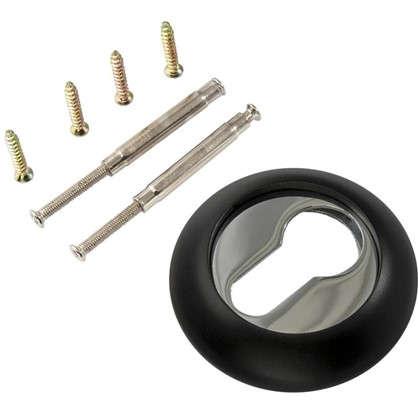 Накладка на цилиндр RENZ цвет черный/глянцевый хром