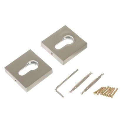 Накладка под цилиндр ET DM SN/CP-3 цвет матовый никель/хром