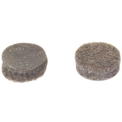 Накладки фетровые Standers 10 мм круглые войлок цвет коричневый 32 шт.