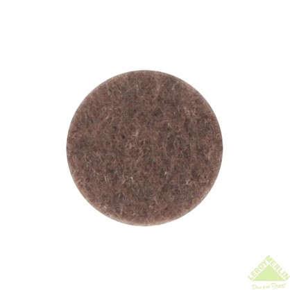 Накладки фетровые Standers 16 мм круглые войлок цвет коричневый 16 шт.