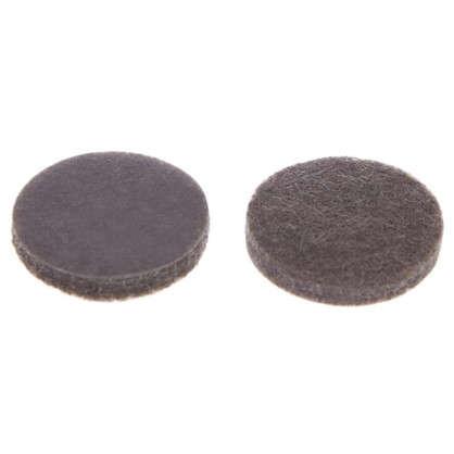 Купить Накладки фетровые Standers 16 мм круглые войлок цвет коричневый 20 шт. дешевле