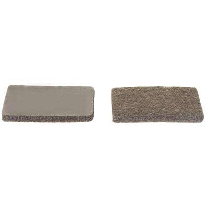 Накладки фетровые Standers 25х36 мм прямоугольные цвет коричневый 8 шт.