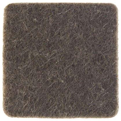 Накладки фетровые Standers 25x25 мм квадратные войлок цвет коричневый 8 шт.