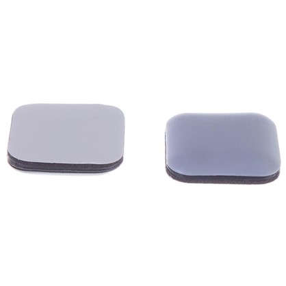 Накладки Standers PTFE 24x24 мм квадратные пластик цвет серый 8 шт.