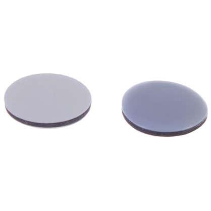 Накладки Standers PTFE 40 мм круглые пластик цвет серый 4 шт.