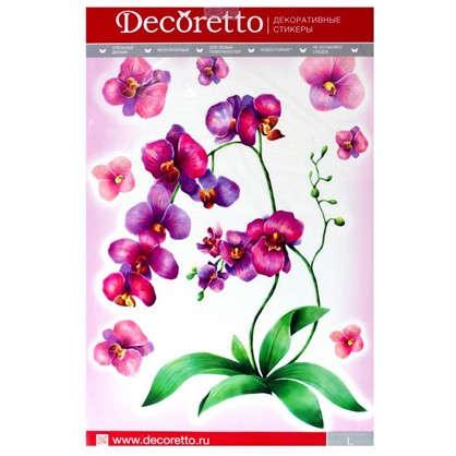 Наклейка Акварельная орхидея Декоретто L