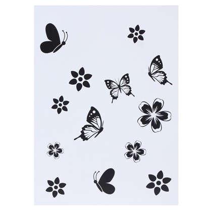 Наклейка Девушка с бабочками