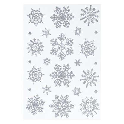 Наклейка Искрящиеся снежинки Декоретто S