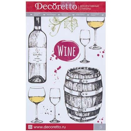Наклейка Искусство пить вино Декоретто