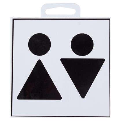 Наклейка маленькая 42 Туалет Общий