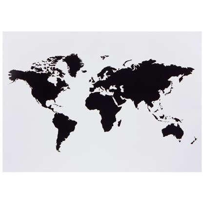 Наклейка меловая для записей Карта мира
