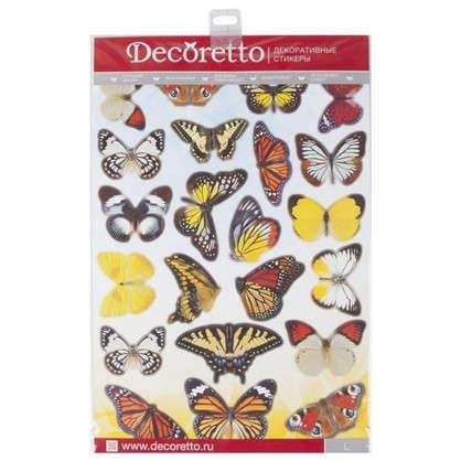 Наклейка Садовые бабочки Декоретто L