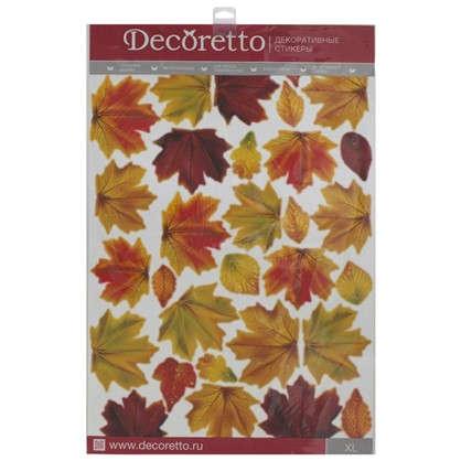 Наклейка Школа осенние листья Декоретто XL