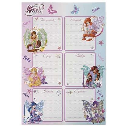 Наклейка Школа-расписание Winx Декоретто S