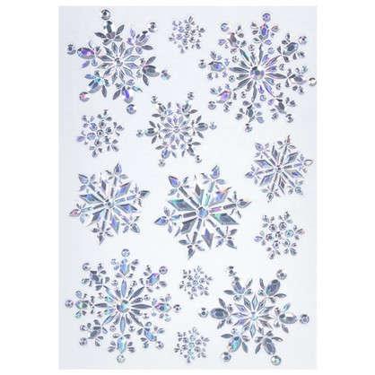 Наклейка Сверкающие снежинки