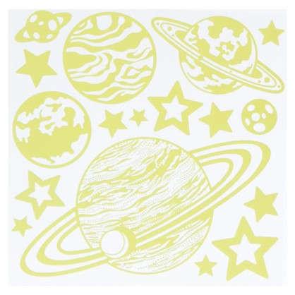 Наклейка светящаяся Космос RDA 8301
