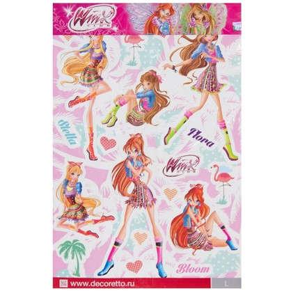 Наклейка Винкс: стильные феи Декоретто