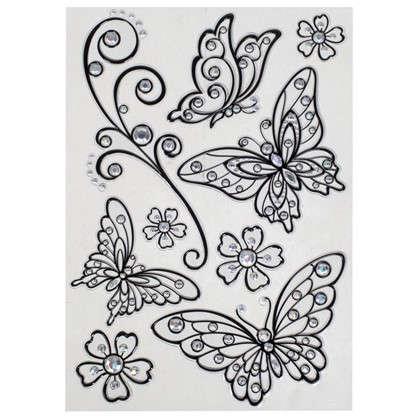 Наклейка влагостойкая Бабочки POA 5803