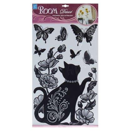 Наклейка влагостойкая Кошка в бусах RCA7513