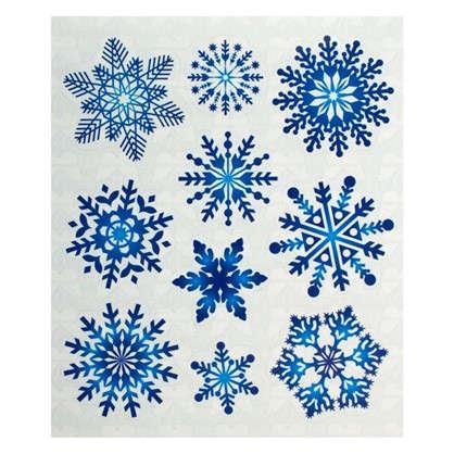 Наклейки Снежинки кружевные Декорет M 10 шт.