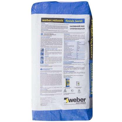 Купить Наливной пол суперфинишный Weber Vetonit Finish Level 20 кг дешевле