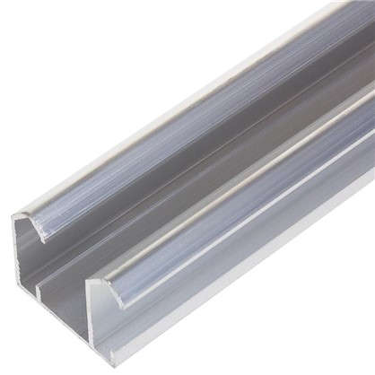 Направляющая для шкафа купе верхняя MC-L60-B 1200 мм нагрузка до 45 кг алюминий