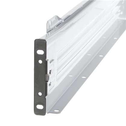 Направляющая роликовая Boyard MB08601 86x500 мм металл цвет белый