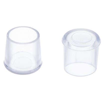 Насадки Standers 14 мм круглые пластик цвет прозрачный  4 шт.