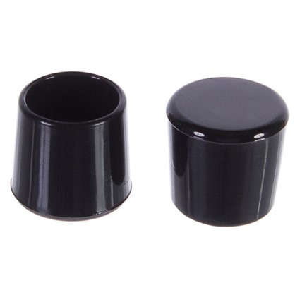 Насадки Standers 16 мм круглые пластик цвет черный  4 шт.