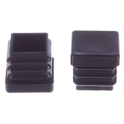 Насадки Standers 17х17 мм квадратные пластик цвет черный 4 шт.