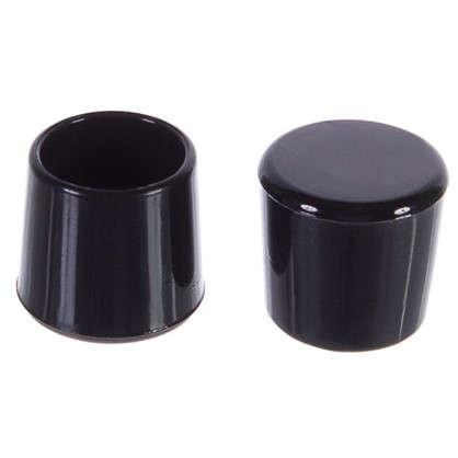 Купить Насадки Standers 18 мм круглые пластик цвет черный  4 шт. дешевле