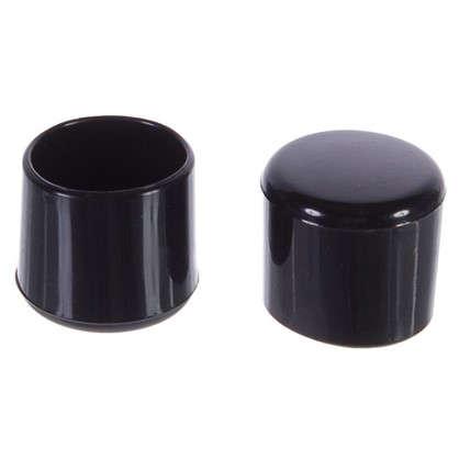 Насадки Standers 25 мм круглые пластик цвет черный  4 шт.