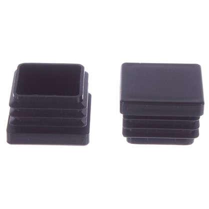 Купить Насадки Standers 40х40 мм квадратные пластик цвет черный 4 шт. дешевле