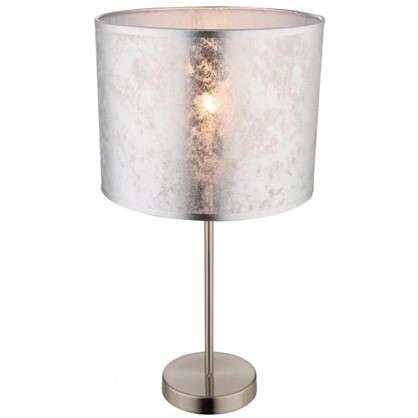 Настольн лампа Globo 1xE27х60 Вт цвет серебро