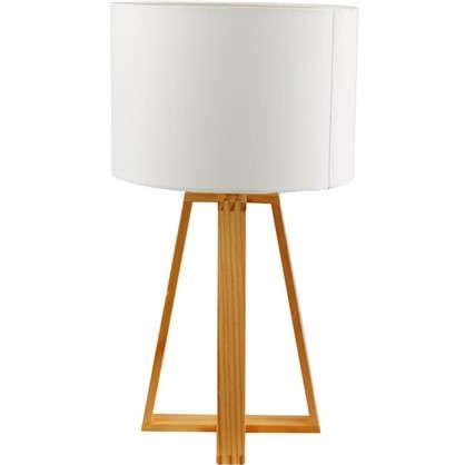 Настольная лампа 1хE27х40 Вт дерево цвет белый