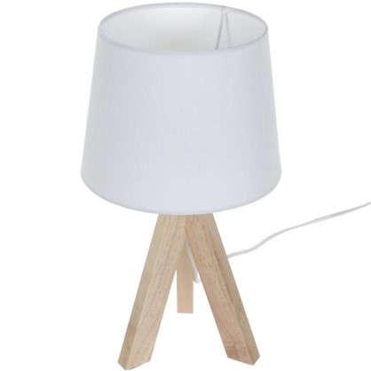 Настольная лампа Belle-Ile 1xE14x40 Вт дерево/ткань цвет белый