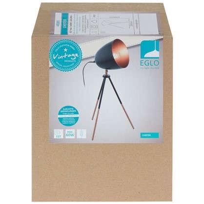 Настольная лампа Chester 1xE27x60 Вт цвет черный медный