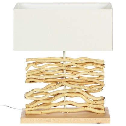 Настольная лампа декоративная Globo Сосна 21647 1хЕ27х60 Вт