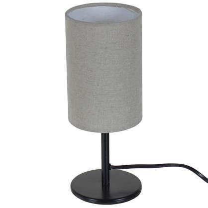 Купить Настольная лампа Nice база 1xE14x40 Вт металл/ткань цвет черный дешевле