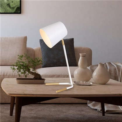 Настольная лампа Skora L1152P цвет белый