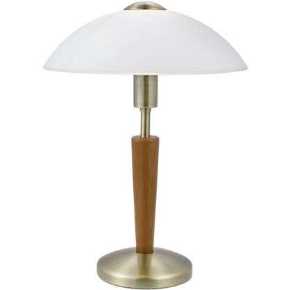 Настольная лампа Solo 1 с сенсором и диммером 1xE14x60 Вт цвет бронза