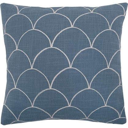 Купить Наволочка декоративная GreatGatsby 40x40 см цвет синий дешевле