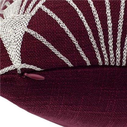 Наволочка декоративная GreatGatsby 40x40 см веер цвет красный