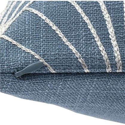 Наволочка декоративная GreatGatsby 40x40 см веер цвет синий