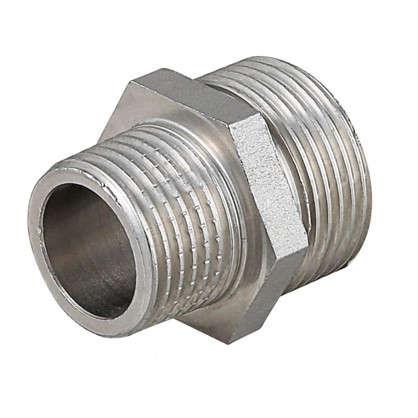 Ниппель переходной 1/2х1/4 никелированная латунь